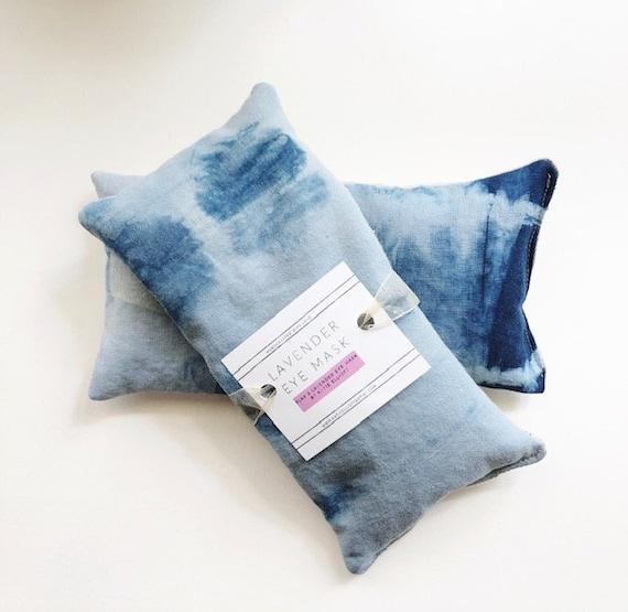 Shibori Lavender Eye Pillow with Flax