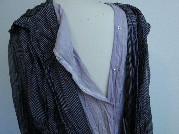 1910s-20s black and purple dress - image 8