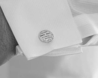 Cuff Link Sets Dictionary Personalized for Brother Father of the Bride Groomsman Nephew Son Pastor Husband