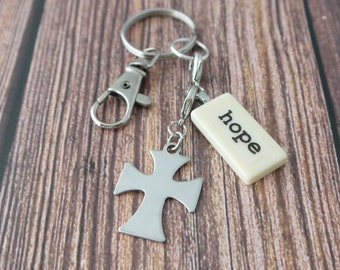 HOPE Key Chain Personalized Customized friend, daughter, faith, god daughter, godmother, granddaughter, graduate, love, sister sister-in-law