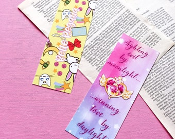 Sailor Moon bookmark - sailor scout - fighting evil by moonlight - anime bookmark - anime gift - manga gift - manga bookmark - cartoon gift