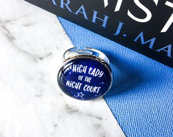 High Lady ring - high lady of the night court - night court ring - night court jewelry - ACOMAF ring - ACOMAF gift - rhysand - sarah j maas