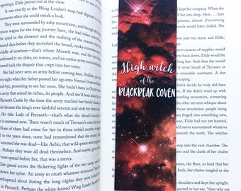 Manon bookmark - high witch of the blackbeak coven - sarah j maas - sarah j maas bookmark - throne of glass - queen of shadows bookmark