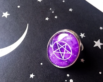 Pentagram ring - purple pentagram - purple ring - witchcraft - witch vibes - witchy - witch ring - good witch - witch jewelry - witchy vibes