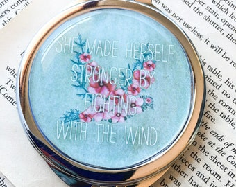 Bird pocket mirror - Secret Garden quote - femist quote - feminist gift - strong women - book quote gift - bookish gift - gift for her