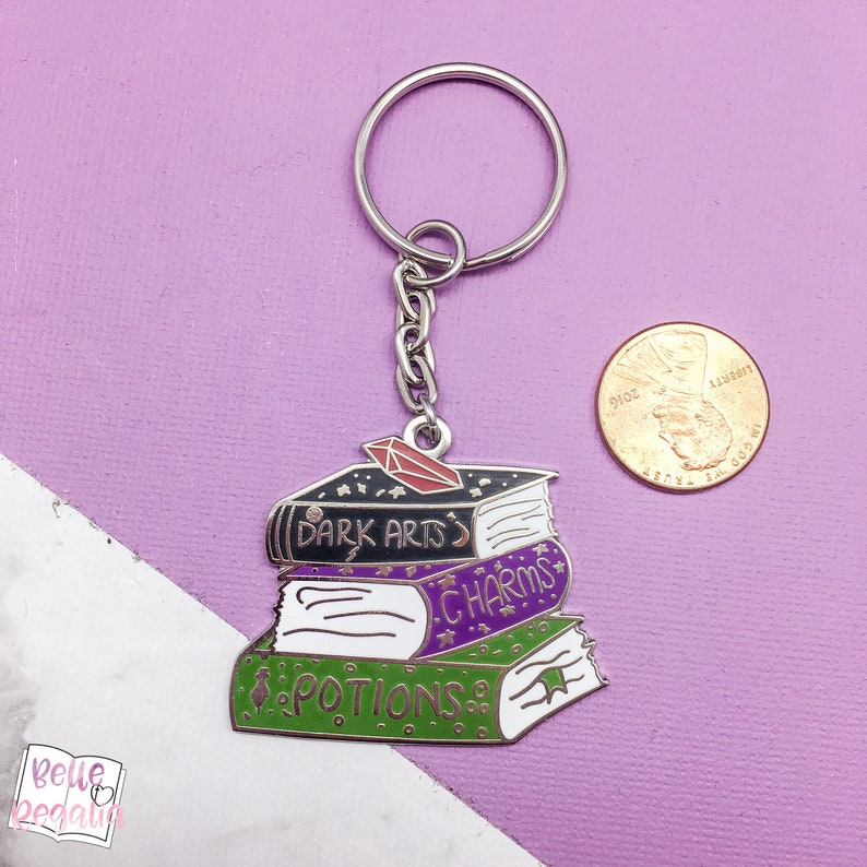 spellbooks book keyring Book keyring gift for book lover bookish keyring book keychain potter keychain book lover accessory