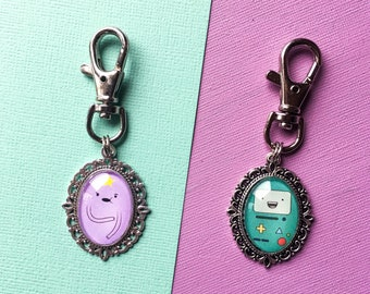 Adventure Time Keyring - Adventure Time Jake the Dog Keychain-  Lumpy Space Princess Keyring - BMO Keyring - LSP Adventure Time Keychain