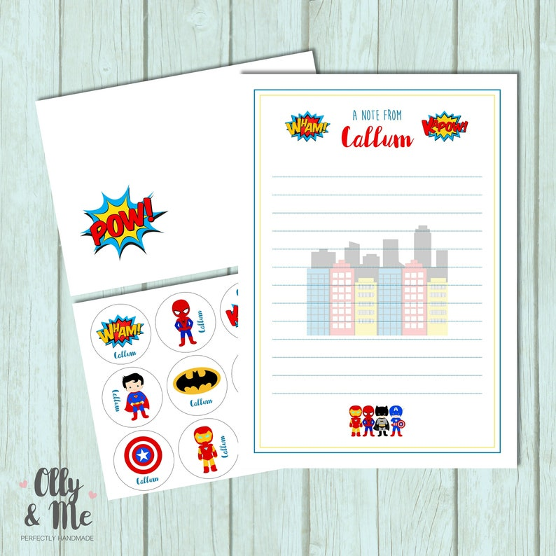 Personalised Children Child Thank You Note Writing Set
