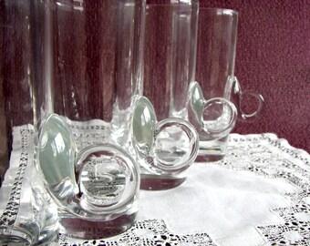Hand-Blown Lenox Lead Crystal Irish Coffe Glass Set