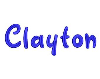 Clayton Block Embroidery Machine Monogram Alphabet Font Set Instant Download Includes BX Files