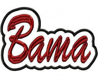 Bama Script Embroidery Machine Applique Design 10815