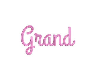 Grand Embroidery Machine Alphabet Font Set INSTANT DOWNLOAD Includes the BX Files