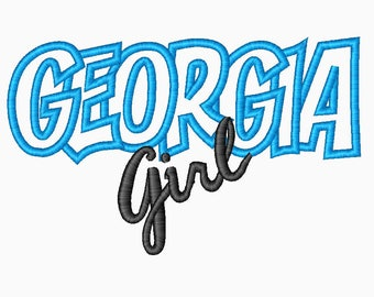 Georgia Girl Embroidery Machine Applique Design 10344