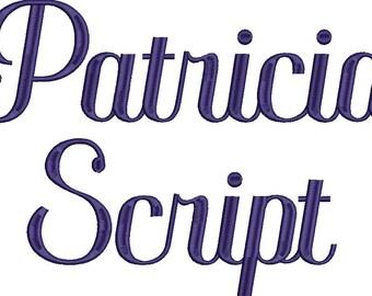 Patricia Script Embroidery Machine Monogram Alphabet Font Set Instant Download Includes BX Files