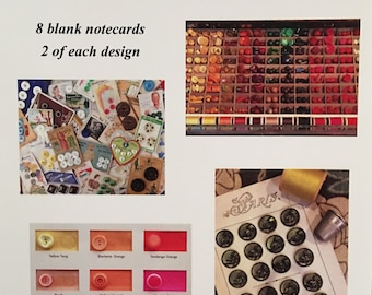Button Collections Notecards - Variety- set of 8