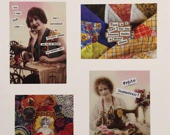 Sassy Quilter Notecards -Variety- set of 8