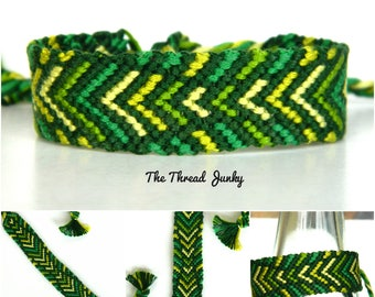 Fields of Green Hand Knotted Friendship Bracelet-Ready to Ship-