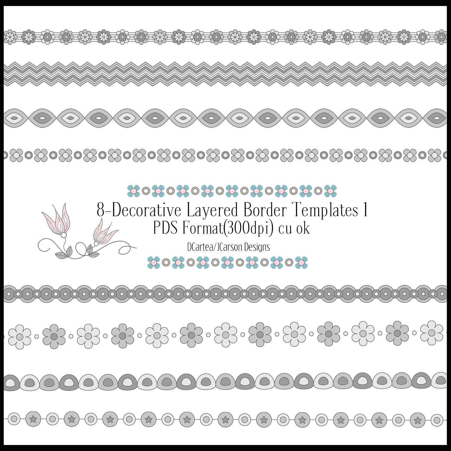 border templates decorative borders layered border templates png