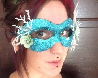 Glitter Blue Ice Creature Mask