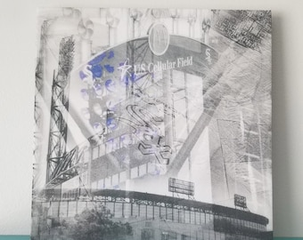 """Chicago 13"""" Canvas Wall Art - US Cellular Field Photo Collage"""