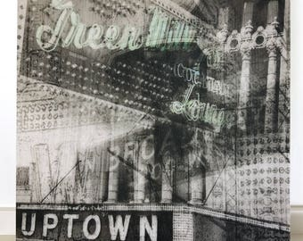 "Chicago 13"" Canvas Wall Art - Green Mill Uptown Photo Collage"