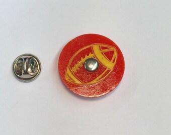 Super Bowl Football Pinball Graphic Pin