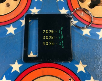 Pinball Coin Slot Keychain