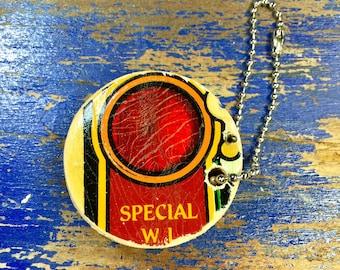 Pinball Playfield Art Wooden Keychain