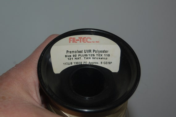 3 Three NOS 4 oz Spools NOS Three + Chestnut ~ Star Ultra Dee Bonded Polyester ~ 4oz. DB 92 TEX 90 ~ The American Thread Co. New England ~ Pre 1985 440fb8