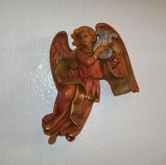 Vintage Christmas Decorations Mouse Carolers Set Jasco: Details About Mid Century Angels 12 Paper Mache Chalk Pair