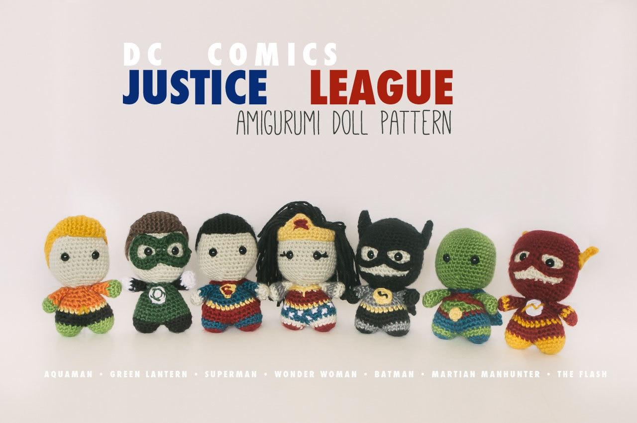 Justicia Liga completo elenco Amigurumi muñecas inspiradas en   Etsy