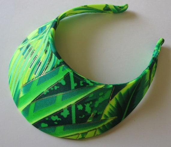 Vintage 80s Carabella Nylon Spandex Tropical Green