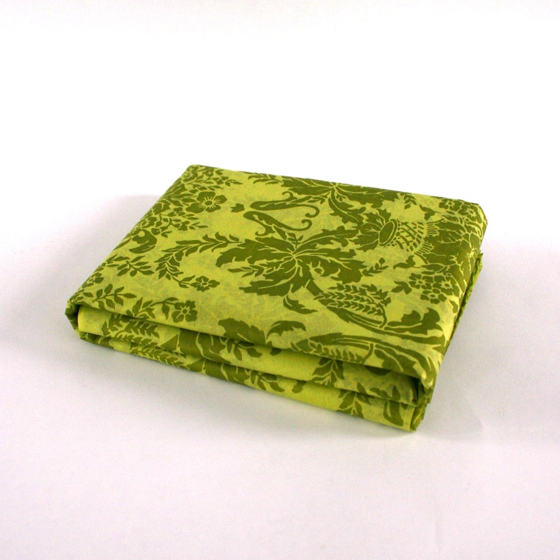 Tissue Paper Damask Chartreuse Tapestry. Moss Green. image 0