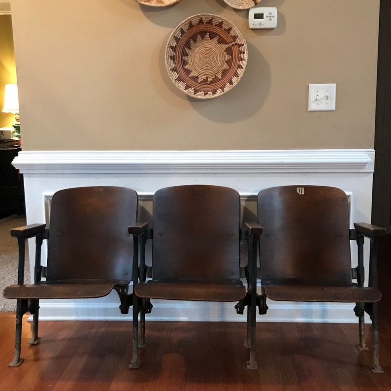 28160a190e7f Theater Chairs. Movie Theatre Chairs. Entryway Furniture. | Etsy