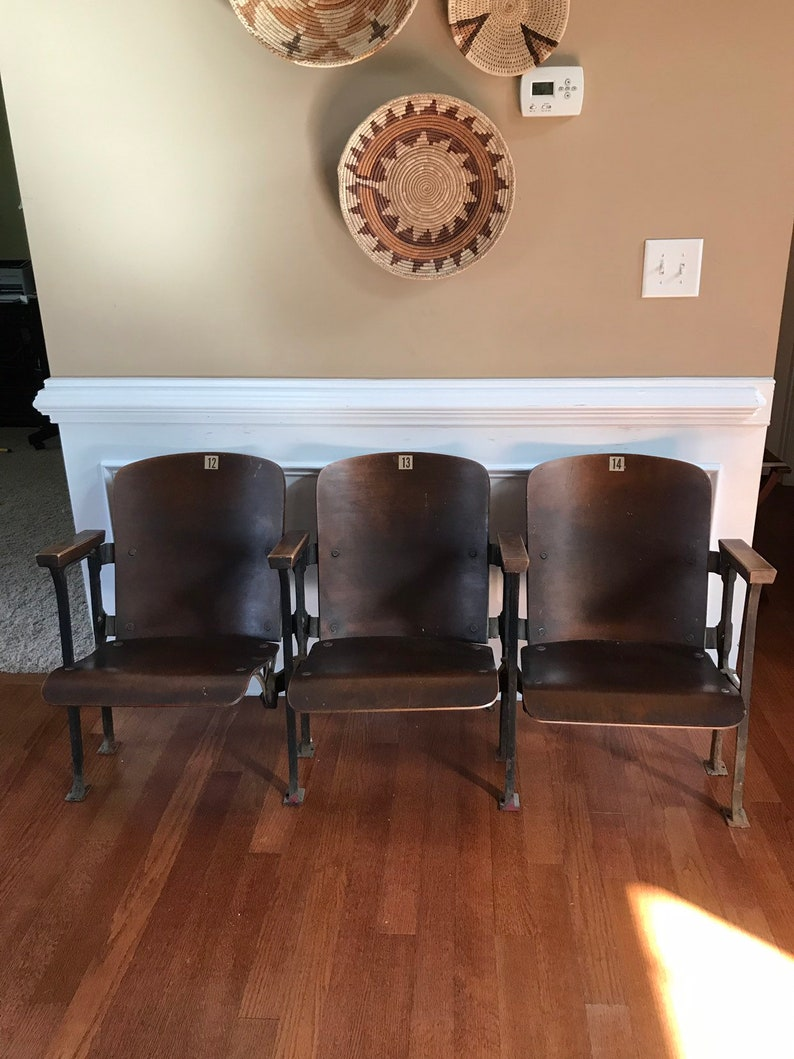 Theater Chairs. Folding Bench. Movie Theatre Chairs. Entryway image 0