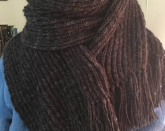 Scarf  - Long Scarf- Graphite Gray Scarf