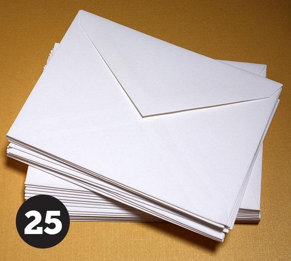A1 Envelopes 5 1/8 x 3 5/8 for RSVP Response Card, 4 Bar Envelope, Stationary, Note Cards, V Flap, White, Pack of 25