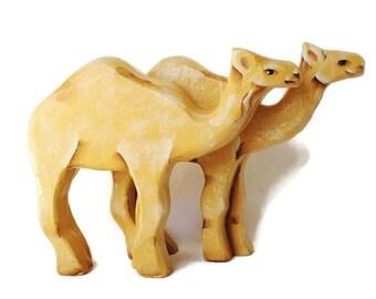 Wooden Noahs Ark Pair of Camels