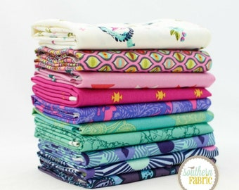 Tula Pink - Pink and Blue - 10 Fat Quarter Bundle by Tula Pink for Free Spirit