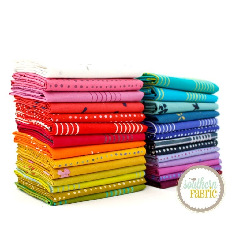 Half Yard Bundle Chroma 24-18x44 Cuts by Allison Glass for Andover Quilt Fabric