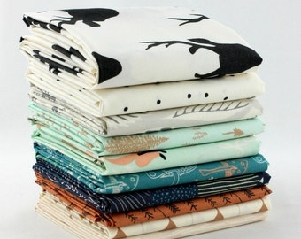 Hello, Bear - Timber - 10 Fat Quarter Bundle by Bonnie Christine for Art Gallery