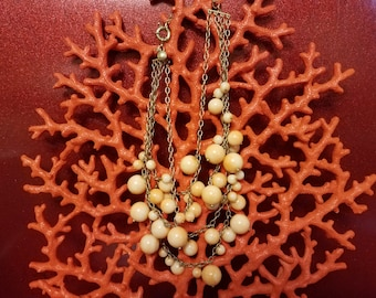 Peachy Bubbles Necklace FREE 2ND DAY