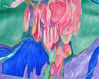Bleeding Heart, Mixed Media Painting