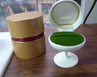 "VINTAGE mid-century modern TULIP Table Base Ring Display BOX ""Rocket"" modernist"