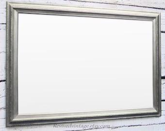 "Framed DRY ERASE BOARD For Sale Brushed Nickel Framed Magnetic Drying  Erase Board 41""x29"" Large Office Organizer Magnetic Board"