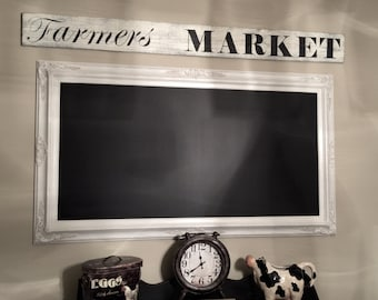 Large Gold Framed Chalkboard For Sale Dining Room Decor Etsy
