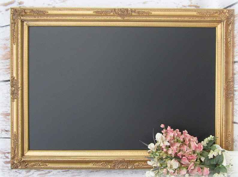 Large GOLD Framed CHALKBOARD For Sale Dining Room Decor