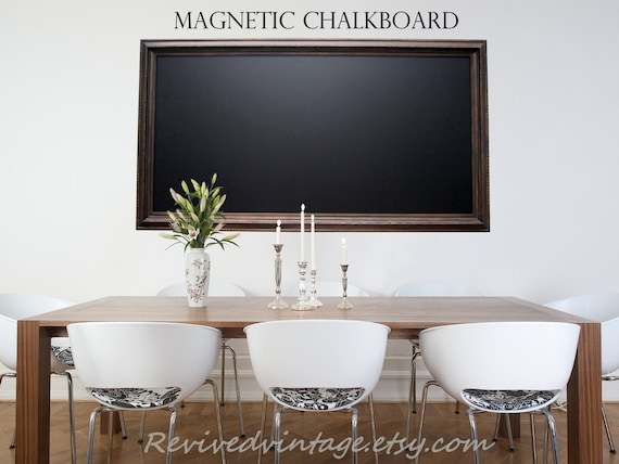 EXTRA LARGE MAGNETIC Chalkboard For Sale Oil Rubbed Bronze | Etsy