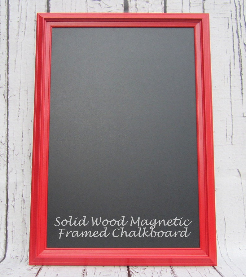 Large Kitchen Chalkboard Red Framed 41x29 Country Etsy