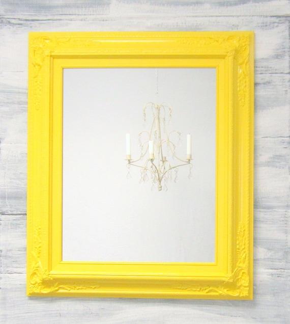 ANY COLOR Yellow White Aqua Framed Baroque Bathroom Vanity | Etsy